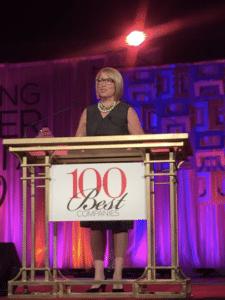 BridgetRoss-podium-100 Best Companies